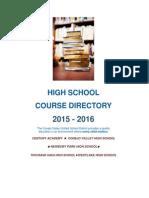 15-16 high school course directory