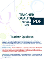 Teacher Qualities