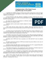 oct05.2015 bImmediate implementation of Bus Rapid Transit along MM major streets pushed