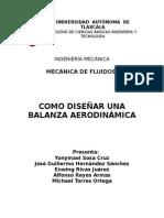diseño de Balanza Aerodinamica