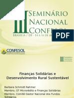 Finanças Solidárias e Desenvolvimento Rural Sustentável