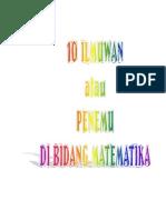 10 Ilmuwan Penemu Di Bidang Matematika 140101085045 Phpapp01