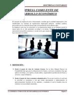 La Empresa como ente de Desarrollo Económico
