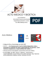 acto medico y bioetica