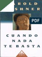 Kushner, H.,_Cuando Nada te Basta_Emecé Editores, 1996.