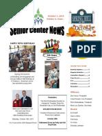 October Senior Center News