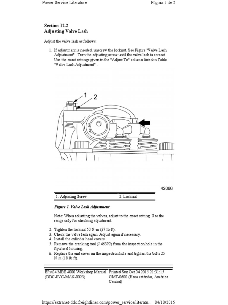 Section 12 2 Adjusting Valve Lash