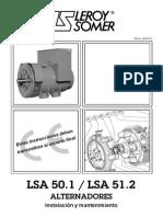 LSA 50.1 - LSA 51.2 Alternadores _ Instalación y Mantenimiento _ 3281 es - 2014.03 L _ LEROY SOMER.pdf