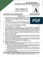 NDA and NA 2011 1 General Ability test paper - Aryan ClassesAT