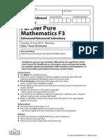 Ial Edexcel Mat[Wfm03] f3 - [q]2014 Mj