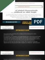 Effect of Inhaled Glucocorticoids 2012 NEJM