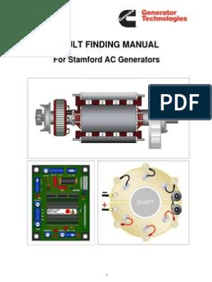 [SCHEMATICS_43NM]  Fault Finding Manual for Stamford AC Generators _ July 2009 _ CUMMINS  Generator Technologies.pdf | Capacitor | Diode | Wiring Diagram Stamford Generator |  | Scribd
