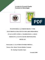 Pulpotomías Al Formocresol y Por Electrofulguración en Molares Primarios