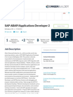 SAP ABAP_Applications Developer 2 Jobs in Bellingham, WA