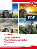 Datos Técnicos Neumáticos Agricolas 2014. Firestone España