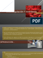 Anticoagulación Y Anestesia
