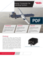 Low SWaP Mission Computer for UAS Takeoff Landing System Case Study