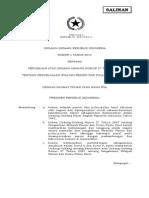 UU 01-2014 Ttg Perubahan UU Pegelolaan Wilayah P3K