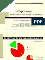 3. Aborto Espontáneo - Dr. Raul Cesar Alegría Guerrero
