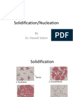 Solidification Nucleation