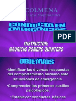 Conductas en Emergencias