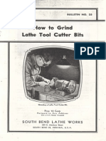 How to Grind Lathe Tools Cutter Bits
