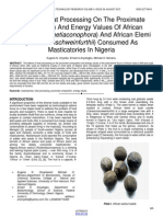 Effect of Heat Processing on the Proximate Composition and Energy Values of African Walnut Plukenetiaconophora and African Elemi Canariumschweinfurthii Consumed as Masticatories in Nigeria