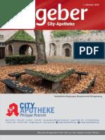 Ratgeber aus Ihrer City-Apotheke – Oktober 2015