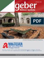 Ratgeber aus Ihrer Malteser-Apotheke – Oktober 2015