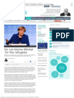 Do Not Blame Merkel for the Refugees _ GulfNews.com
