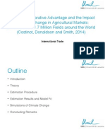 Evolving Comparative Advantage and the Impact of Climate Change in Agricultural Markets
