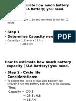Est Battery Capacity Calc