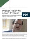 Prager Autor Will Neuen Prozess
