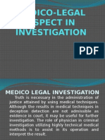 Medico-legal Aspect in Investigation