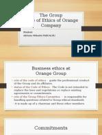 Ethics Code Orange