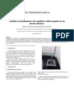 Informe Practica Análisis Termodinámico Del Equilibrio Sólido-líquido de Un Sistema Binario