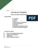 BBA Program Structure