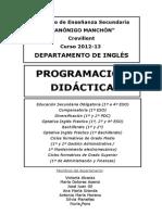 Programacion Didactica Ingles 2012 13