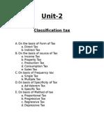 Tax CLASS NOTES