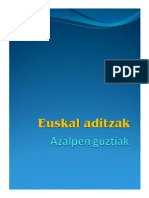 Ejercicios Euskal Aditzak 1