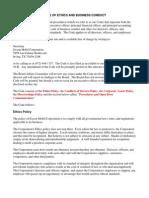 Investor Governance Ethics