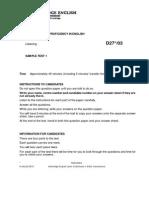 Cambridge English Proficiency Sample Paper 1 Listening v2
