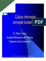 Cultura Informatiei-concepte Fundamentale
