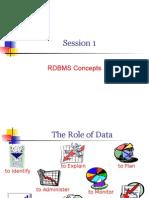 1-RDBMS- SQL