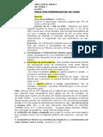 Competencia - Prerrogativa de Foro - Esquema