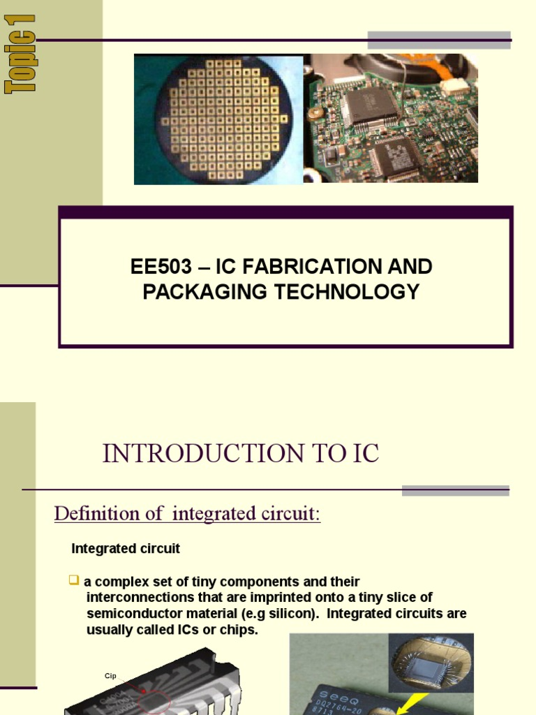 Topic1 Ee503 Mosfet Integrated Circuit Definition