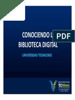 Conociendo La Biblioteca Digital - Ago09