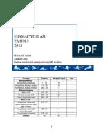 Ujian Aptitud Am Tahun 3 SK 2015