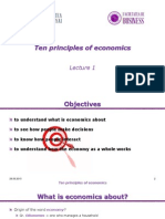 Lecture 1 Ten Principles of Economics