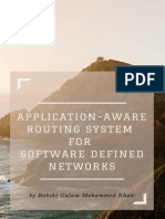 Application Aware Routing System (A2RS) for Software Defined Networks